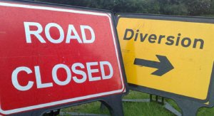 Emergency closure of Costessey Lane  - burst water main