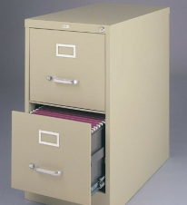 A filing cabinet