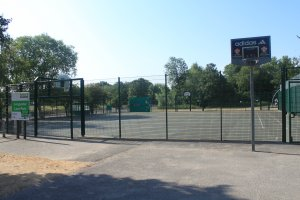 five-a-side football and basketball arena